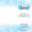 Eden water Christmas card